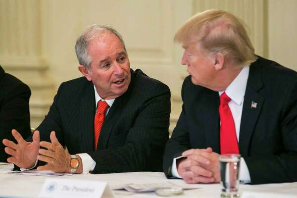 Stephen Schwarzman was chairman of the policy forum.