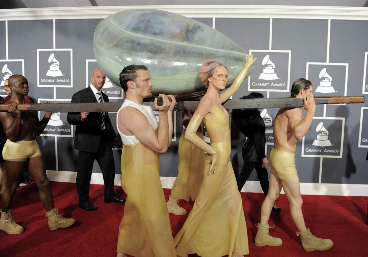 In this Feb. 13 file photo, Lady Gaga arrives at the 53rd annual Grammy Awards in Los Angeles. (AP Photo/Chris Pizzello, file)