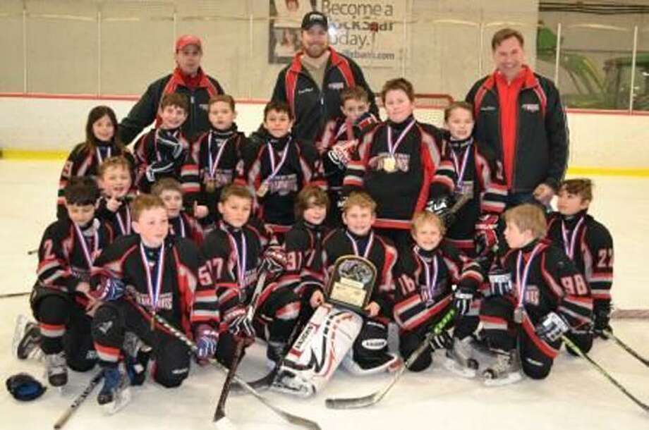 The state champion Greater New Haven Warriors Mite Bs. (Photo courtesy of Jackie St. Peter/)
