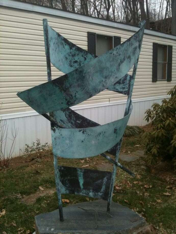A sculpture on North Main Street, Branford, that showed evidence of saw marks, according to police.