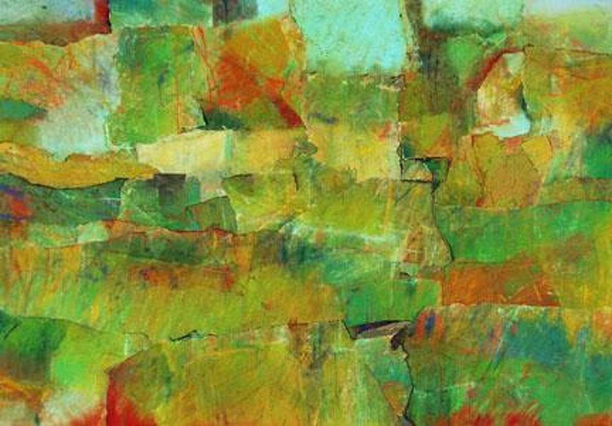 Verdant by Diana Godfrey - mixed media collage