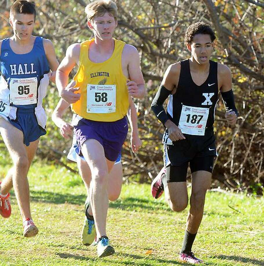 The State Open Cross Country meet at Wickham Park, Manchester. Xavier's Zachary Williams. Mara Lavitt/New Haven Register11/4/12