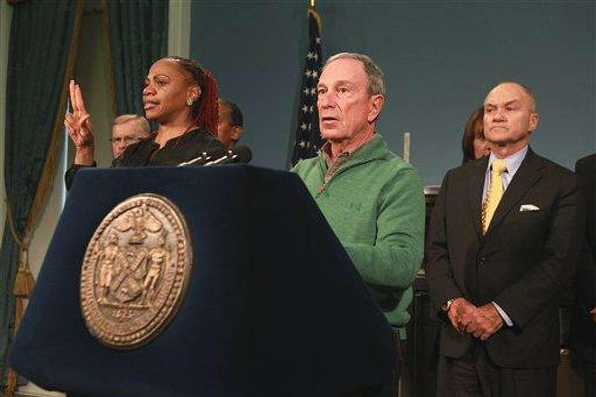 New York City Mayor Michael Bloomberg updates the media on Hurricane Sandy recovery efforts. AP Photo/NYC Mayor's Office