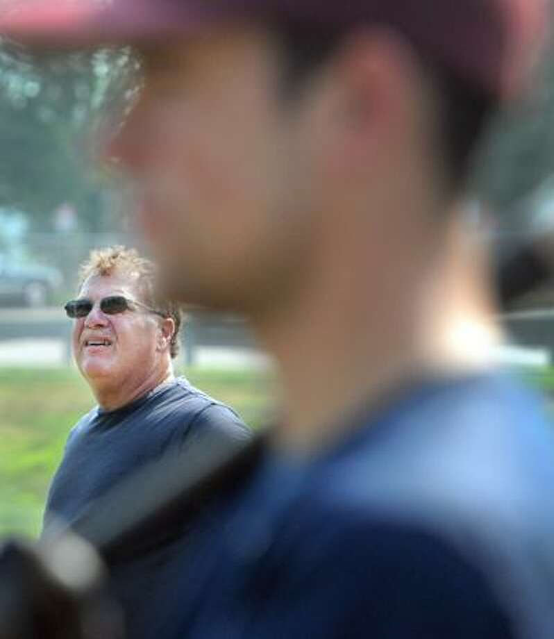 Branford American Legion Baseball coach Rich Balzano during practice at the Branford H.S. baseball field.  7/21/11. Photo by Peter Hvizdak / New Haven Register July 21, 2011       ph2330               # 3328    Connecticut