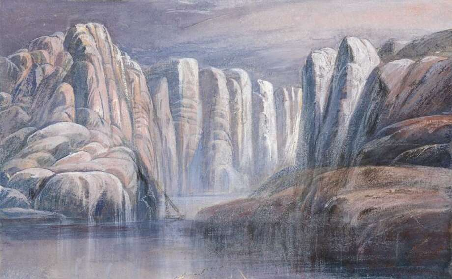 "Google Art Project  Edward Lear's ""River Pass, between barren rock cliffs,"" from the YCBA. Photo: Digital Image: Yale Center For B / Yale Center for British Art"