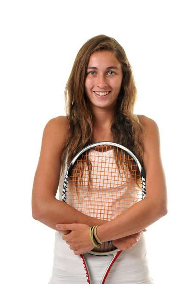 All-Area Girls' Tennis MVP Taylor Fay of Hand. (Peter Casolino/Register)