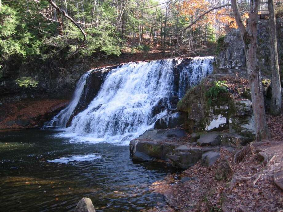 Janet Ainsworth photo: A hike at Wadsworth Falls State Park in Middletown begins at 11:30 New Year's Day.