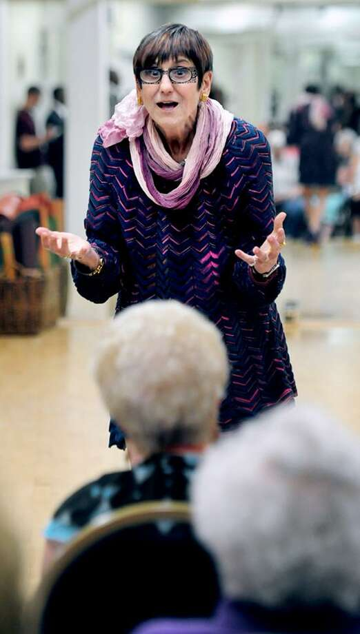 U.S. Rep. Rosa DeLauro responds to a question at a meeting hosted by the United Seniors for America at Physicians Physical Therapy in West Haven. Photo by Arnold Gold/New Haven Register