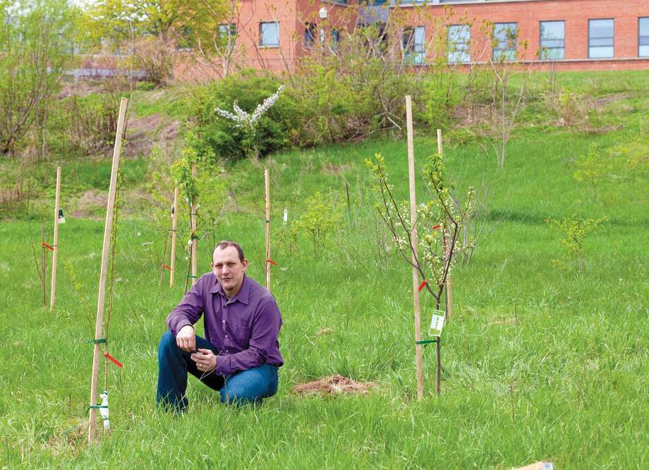 Patrick Heidkamp, a geography professor who is working on Plant it Forward at SCSU / SCSU