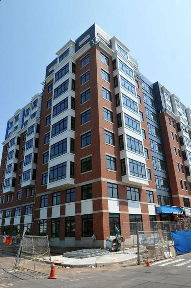 The new housing facility behind 904 Howard Ave., on corner of Ward Street in New Haven. Peter Casolino/Register