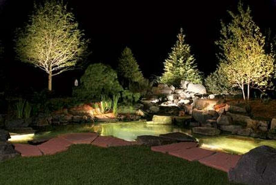 A Few Well Placed Solar Lights Bring The Landscape To Life