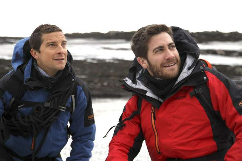 Bear Gylls and Jake Gyllenhaal in Iceland. Photo: Discovery Channel / Discovery Communications