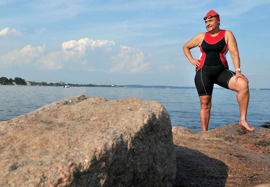 Ann Reuther Louise Onton will attempt to become the oldest woman to swim the English Channel.  She is 67. Brad Horrigan/Register