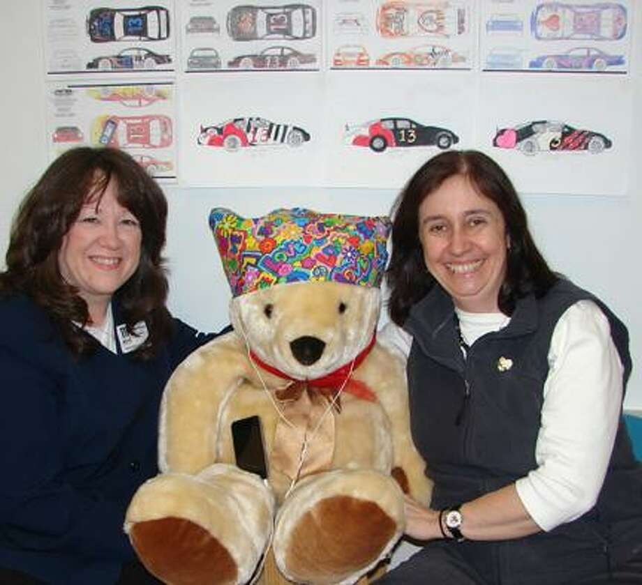 Photo courtesy of VVS SHEVERON YEARBOOK STAFF On Wednesday, March 9, 2011 Colleen Bennett, left, and Donna Mucks from the KEYS Program visited VVS High School to preview student car designs and see some of the cuddly stuffed animals that have been collected for the Hearts of Hope Project.