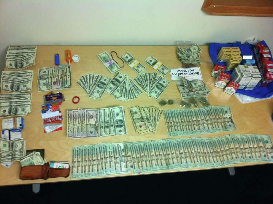 A police photo of evidence seized in the arrest of Carl Ruitto, 53, on drug charges in Old Saybrook Thursday.