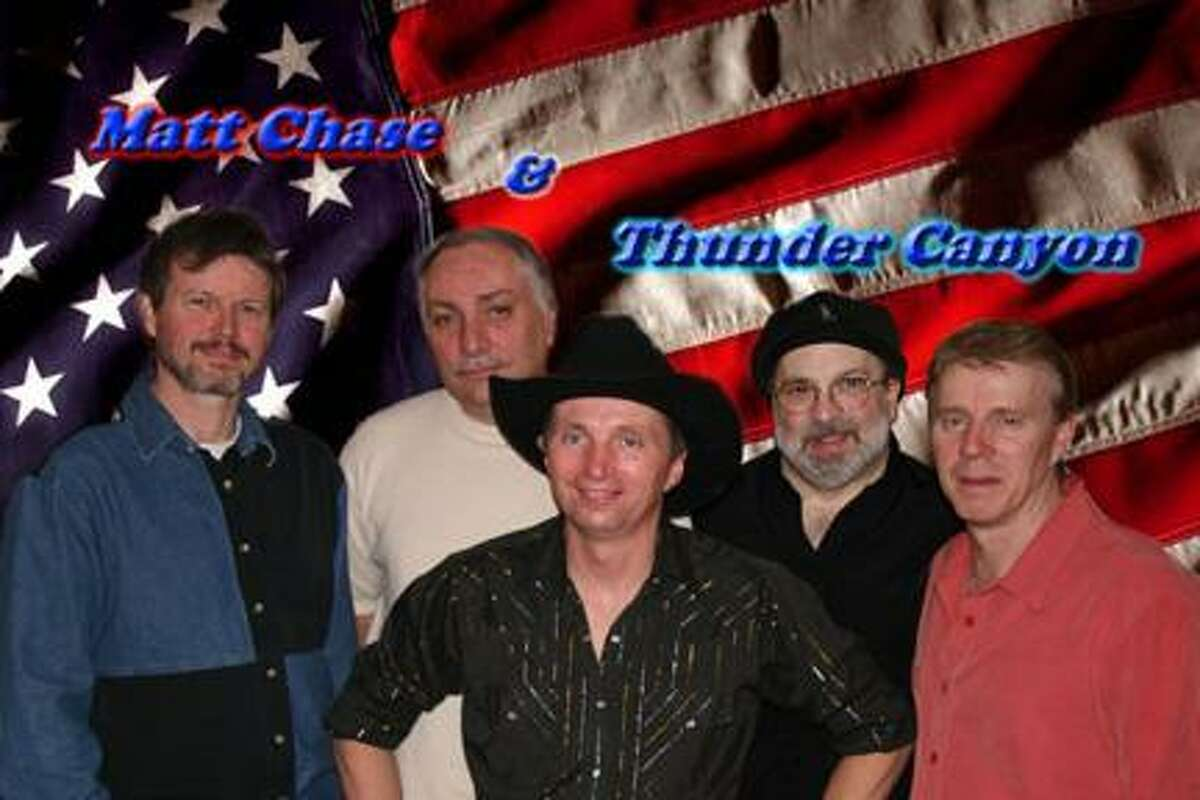 Photo Courtesy of MATT CHASE Matt Chase and the Thunder Canyon Band, featuring, from left, Jeff D'Aprix, Gary Burns, Matt Chase, Eric Cappotto, and Mike Bullock, will bring their modern country and old time rock 'n' roll to the 2nd annual Big Dog BBQ on March 19 at Nothin' Fancy in Vernon. The party also includes a Blues Brothers tribute show, the Jack Daniels Girls, drawings and guest appearances by Utica-Rome Speedway star race cars.