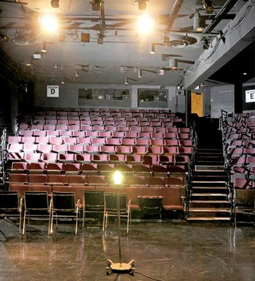 Long Wharf Theatre, view from main stage out to center aisle. (Peter Hvizdak/New Haven Register)