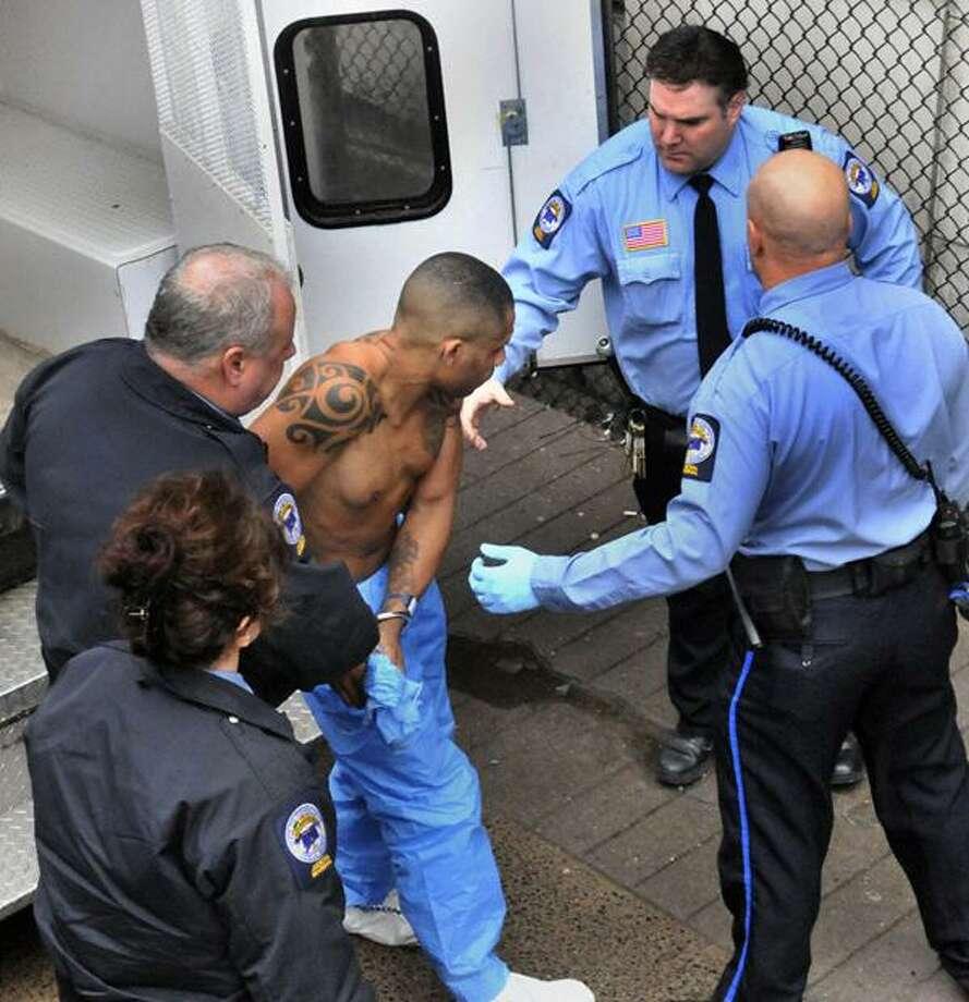 The 'East Coast Rapist' arrives at New Haven Superior Court. (Melanie Stengel/New Haven Register)
