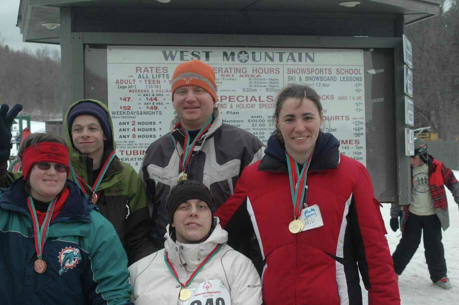 Submitted Photo Five Madison County athletes attended the Super Regional Winter Games Competition hosted by Special Olympics New York at West Mountain in Glens Falls on January 22. They are (front row) Cassie Clemons, Kimberly Wentworth, Amy Gustina; (back) Nick Ambs and Jordan Sellers.