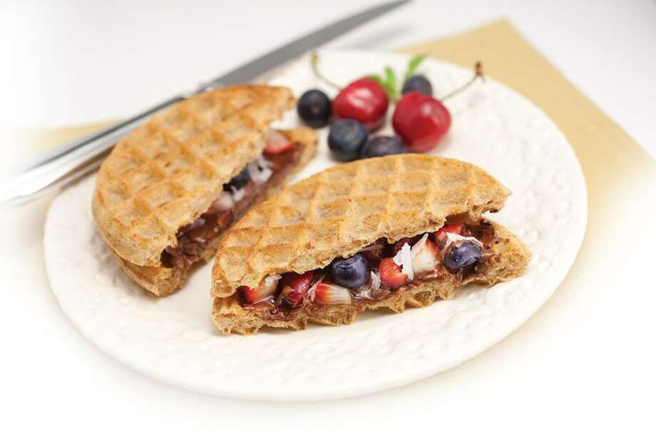 Nutella Waffle Sandwich