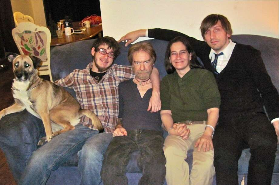 The Solsbury family of Ansonia, pictured from left: Brandon Solsbury with Bailey, Keith Solsbury, Maggie Solsbury, and a cousin, Paul Begnoche. Missing from photo: daughter Brianna Solsbury. Patricia Villers/Register