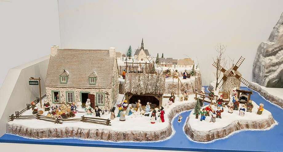"""Thomas Serafin/Knights of Columbus photo: A detail of ceramicists Suzanne and Gerard Lavalee's diorama """"The Nativity in the Maple Grove and the Village."""" / (c)KNIGHTS OF COLUMBUS"""