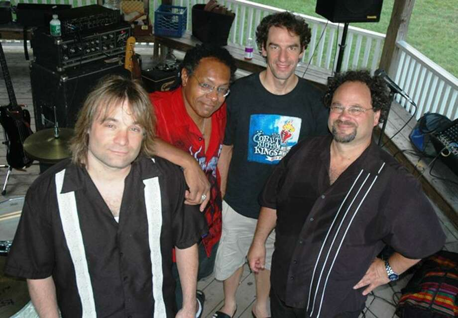 Contributed photo: The Cobalt Rhythm Kings, including the Register's very own Mark Zaretsky, right, will perform Saturday at Park Central Tavern in Hamden.