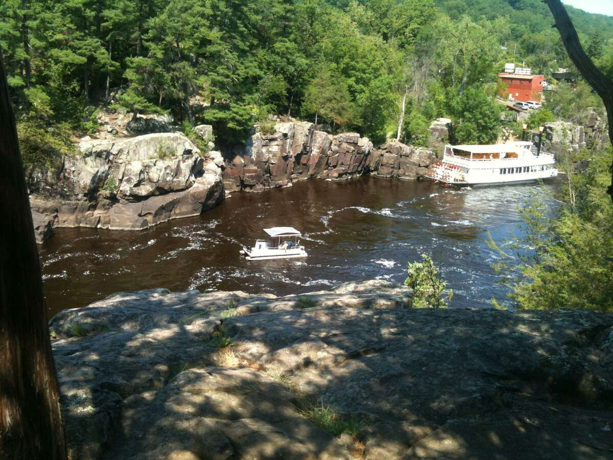 Submitted photo Paddle and pontoon boats from a view along the highway in Minnestota.