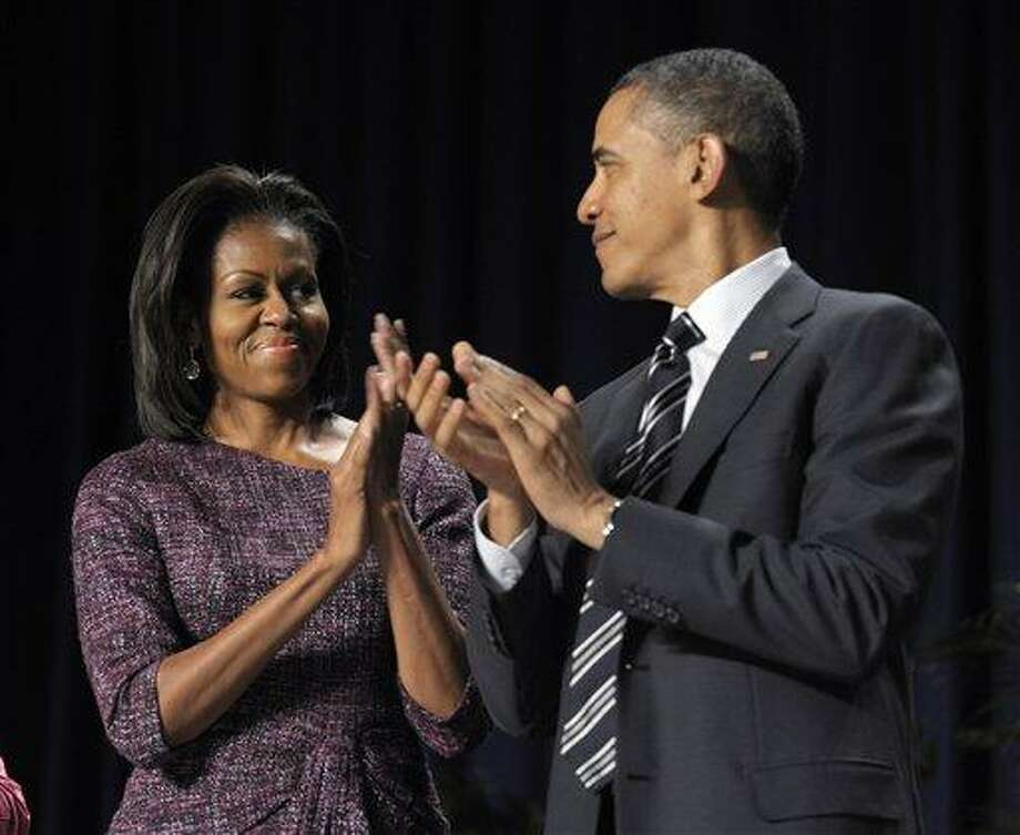 First Lady Michelle Obama attends the National Prayer Breakfast in Washington Thursday. Associated Press Photo: AP / AP