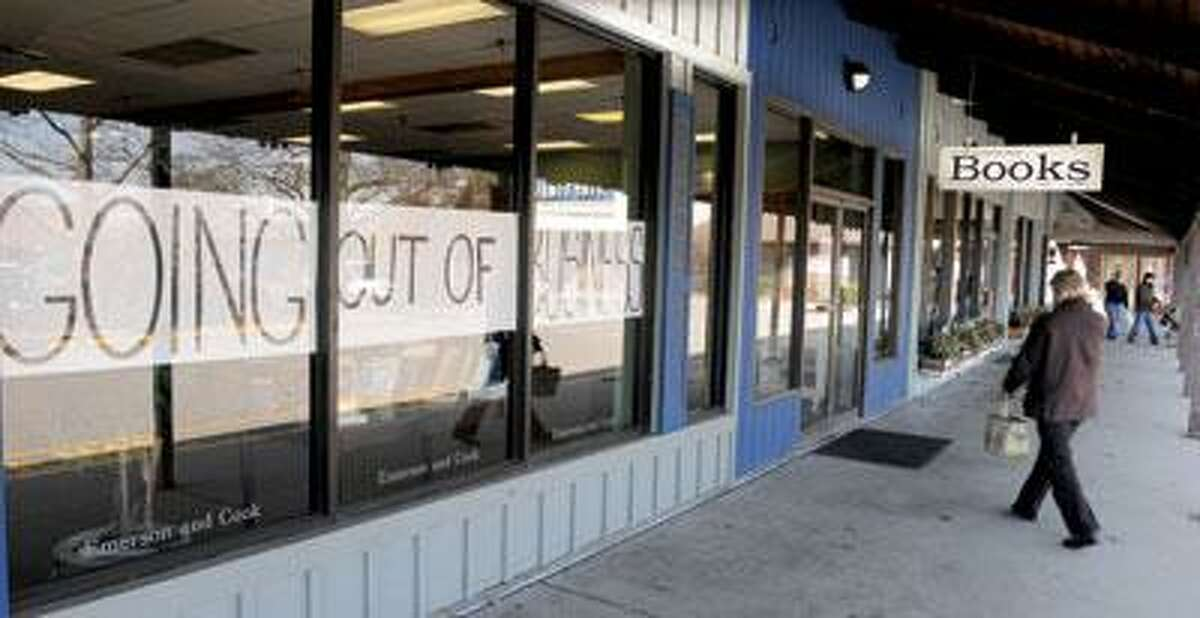 Emerson and Cook Book Co. in Old Saybrook is closing at the end of April. (Mara Lavitt/Register)