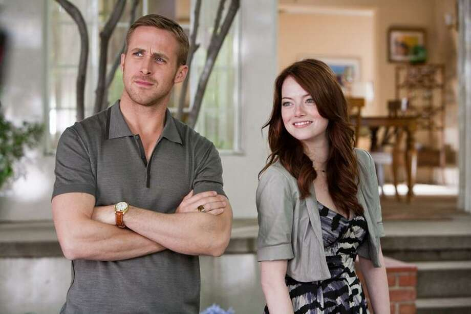 "AP/Warner Bros: Ryan Gosling and Emma Stone in ""Crazy, Stupid Love,"" a PG-13 rated film with a couple of expletives. Photo: AP / ©2011 Warner Bros. Entertainment Inc."