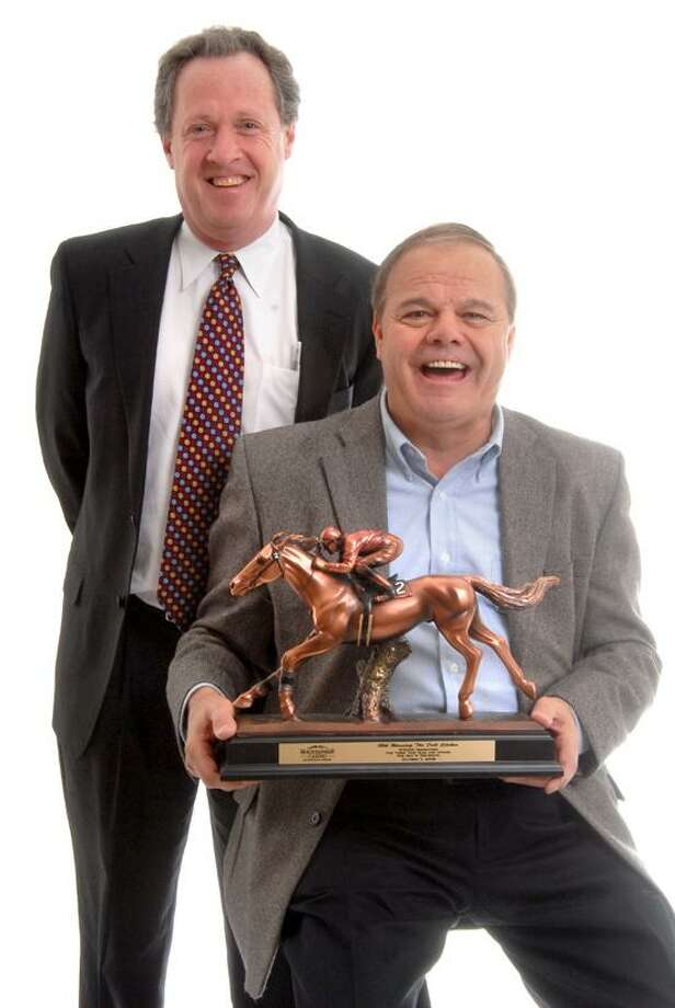 John Buckley and Ralph Durante partners in Durante-Buckley Stable. (VM Williams/Register)