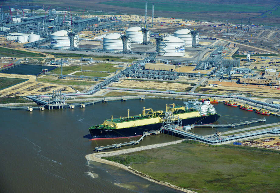 The liquefied natural gas tanker Asia Vision left Cheniere Energy's Sabine Pass export terminal in Louisiana early last year with the first cargo of U.S. shale gas. Manufacturers want to slow the development of U.S. natural gas export facilities. Photo: Lindsey Janies, Stf / Bloomberg