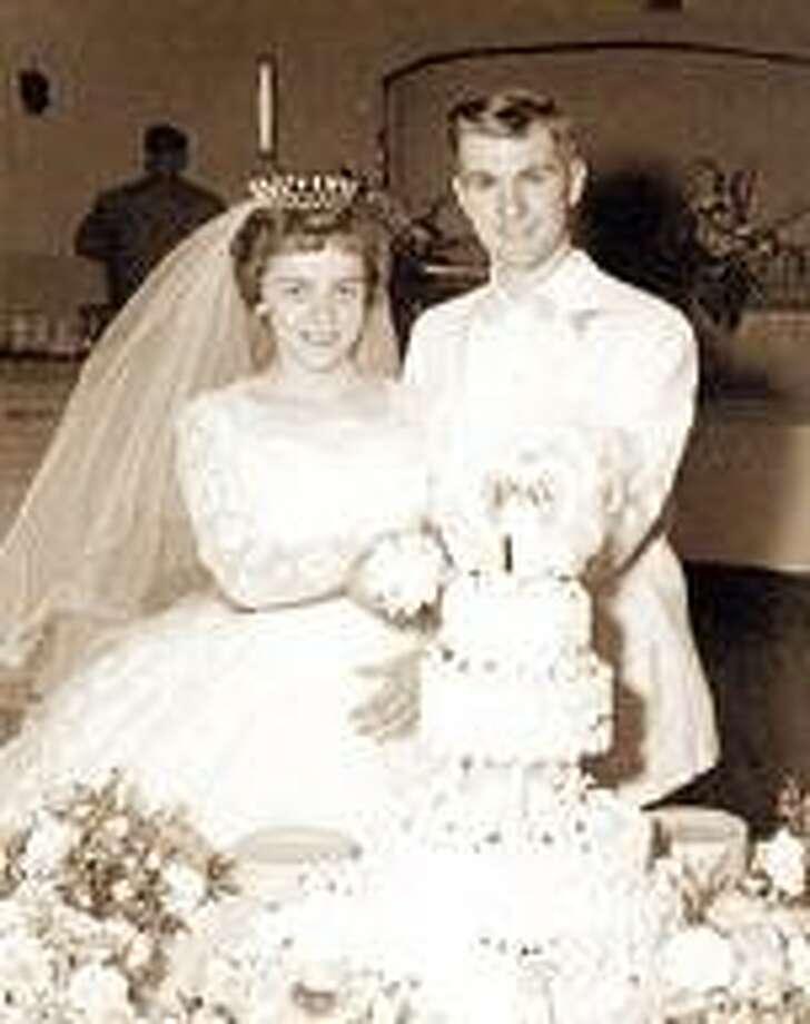 Dick and Sandy (Perkins) Dingman at their June 24, 1961 wedding.