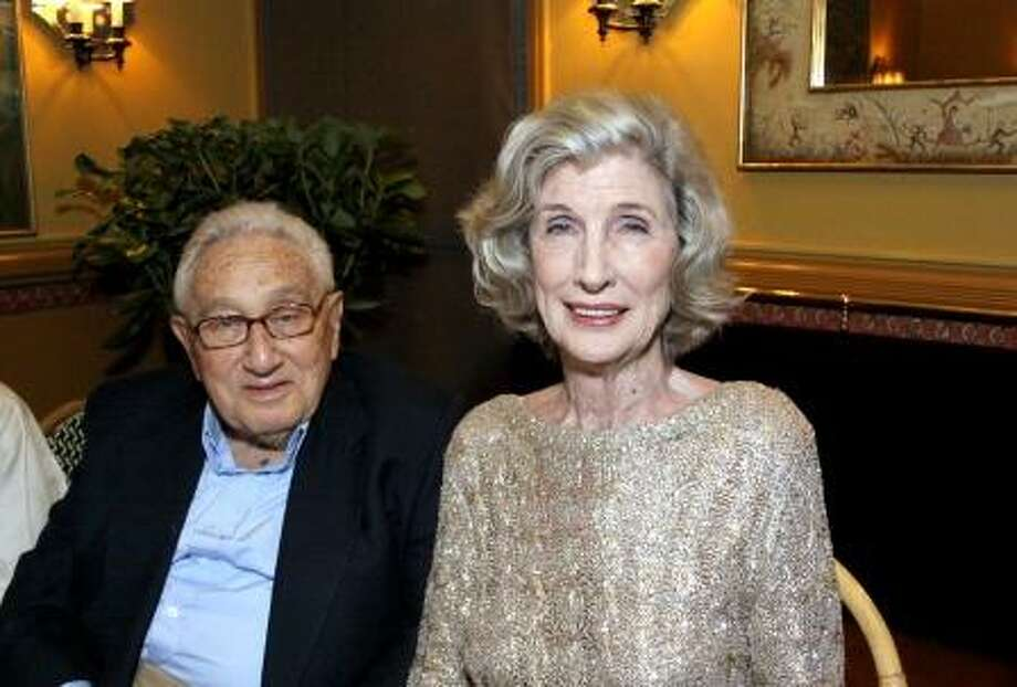 Henry and Nancy Kissinger (Photo by Walter Kidd)