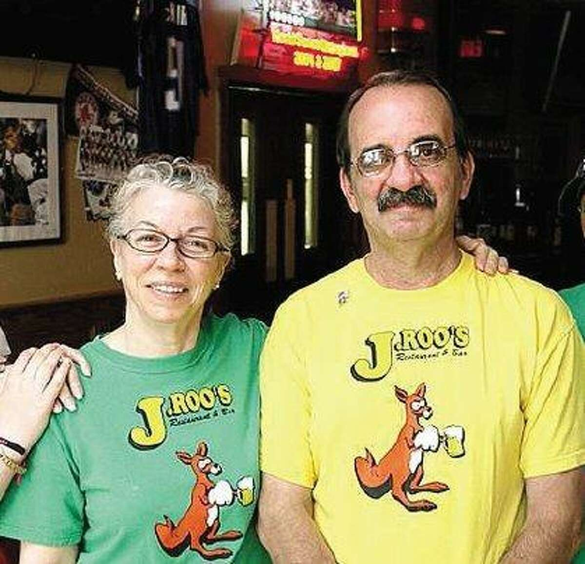 Virginia Mazzaro is listed as the owner of J. Roo's, while her husband, Sal, right, and their children run it. Virginia Mazzaro pleaded guilty in federal court in Hartford to one count of tax evasion. (Register file photo)