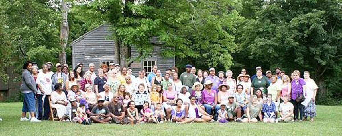 SUBMITTED PHOTO Descendents of former slaves and those who assisted them gather at the second Peterboro Emancipation Day in Peterboro Aug. 6.