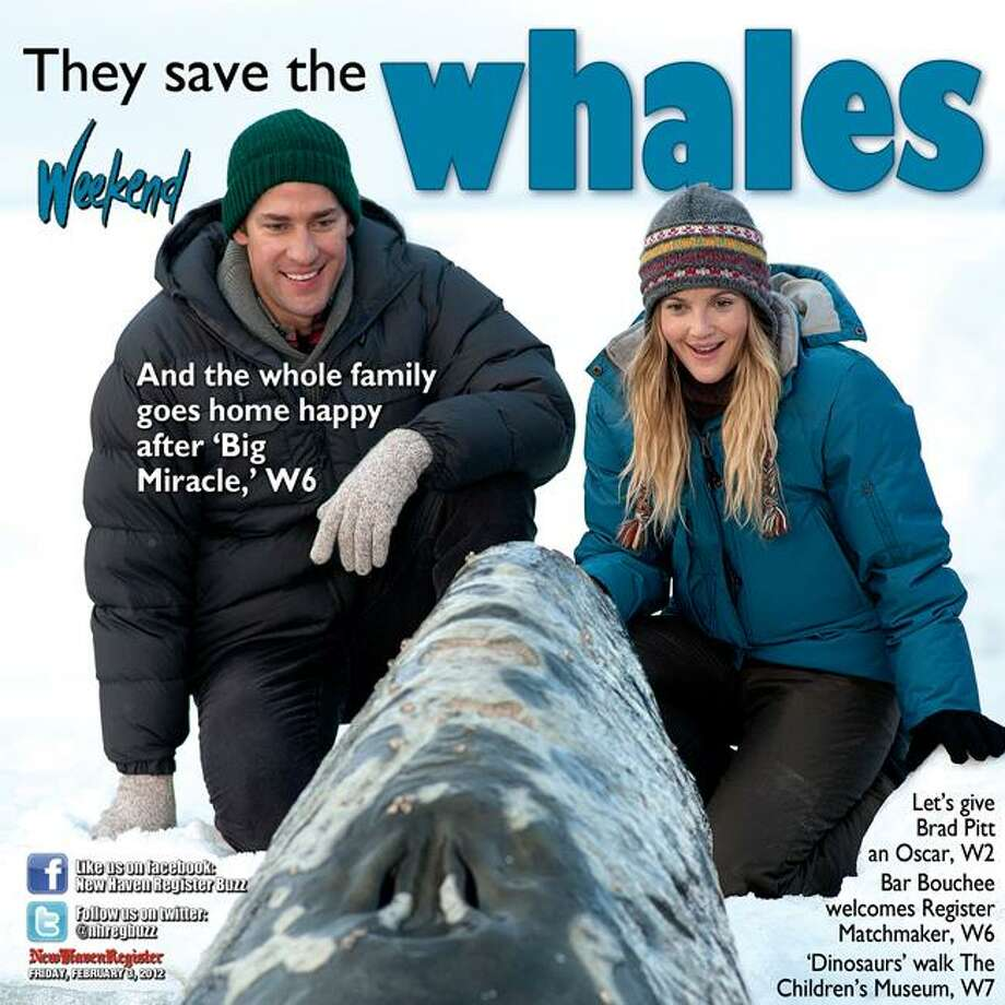 """Universal Pictures photos: """"Big Miracle,"""" starring Drew Barrymore, recounts the rescue of a family of gray whales trapped by rapidly forming ice in the Arctic Circle."""