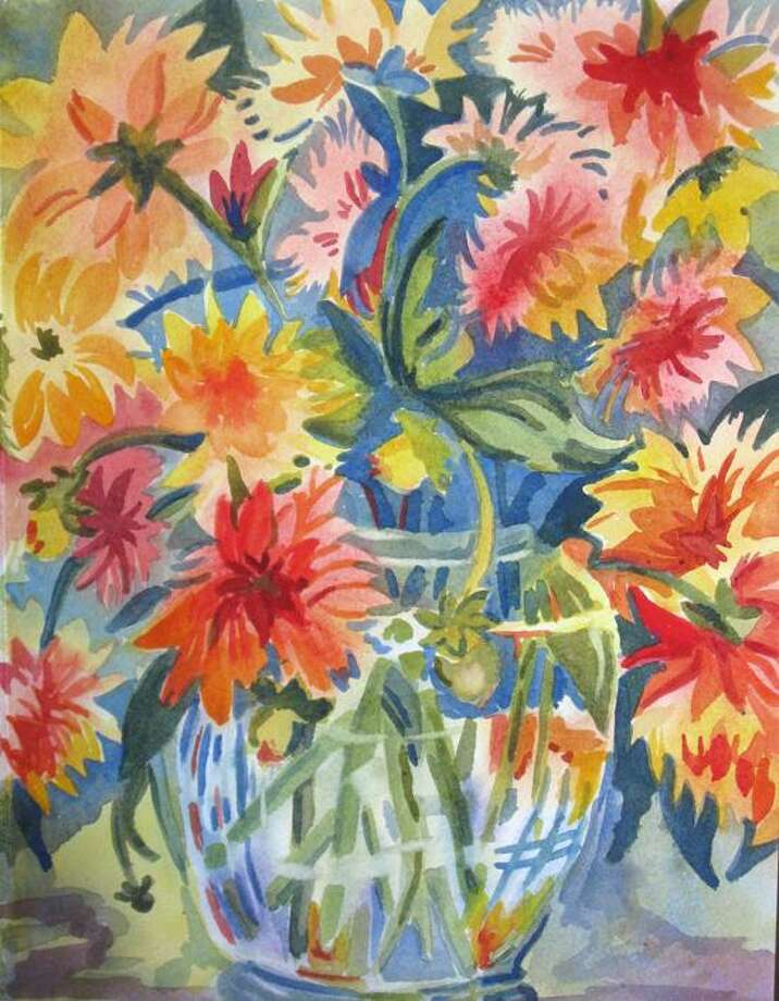 """Contributed: """"Punkin' Spice Dahlias"""" by Mary Beeman"""