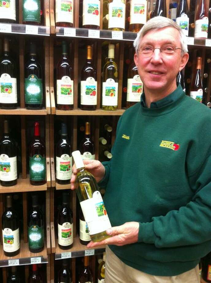 Jim Shelton/Register: Keith Bishop of Bishop's Orchards Farm market was recently named the Connecticut Wine Person of the Year
