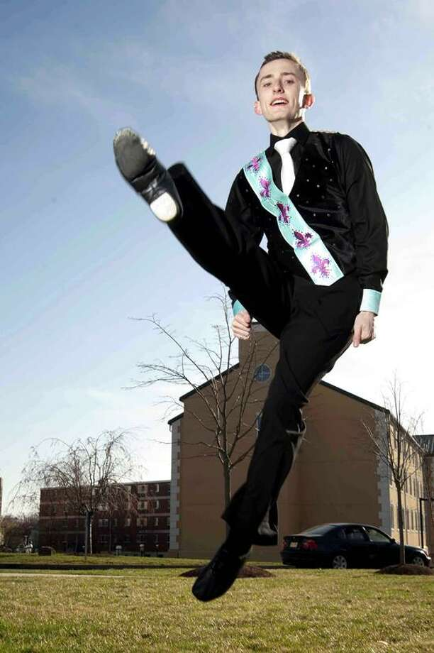 VM Williams/Register photo: University of New Haven sophomore David Janovsky will be in Belfast this week to compete in the World Championships of Irish Dance.
