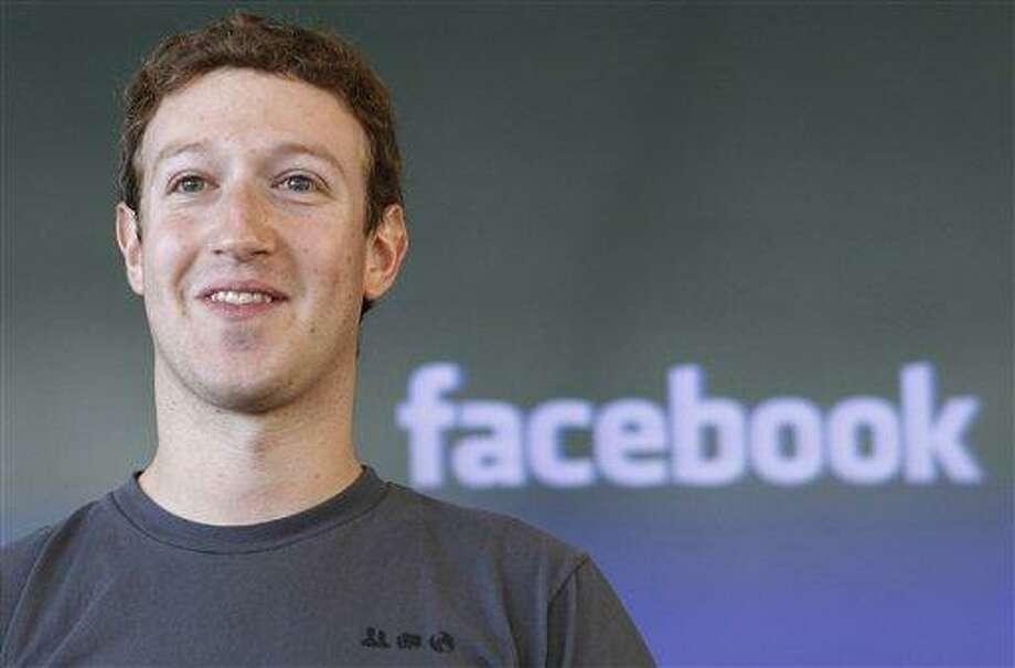 This 2011 file photo shows Facebook CEO Mark Zuckerberg during a meeting in San Francisco.  Associated Press Photo: AP / AP2011