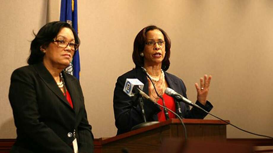 Sen. Toni Harp and Rep. Toni Walker, co-chairs of the Appropriations Committee. Christine Stuart photo