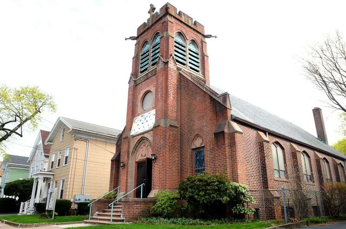 Emanuel Lutheran Church at 280 Humphrey St. in New Haven has had copper piping stolen from the basement of the church earlier in the week.Photo by Arnold Gold/New Haven Register AG0409D