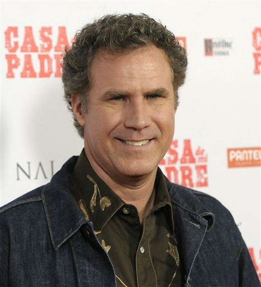 """Actor Will Ferrell arrives at the premiere of the feature film """"Casa De Mi Padre"""" in Los Angeles Wednesday. Ferrell made a surprise visit on """"Conan"""" as Ron Burgundy to announce the sequel of """"Anchorman."""" Associated Press Photo: AP / R-STEINBERG"""