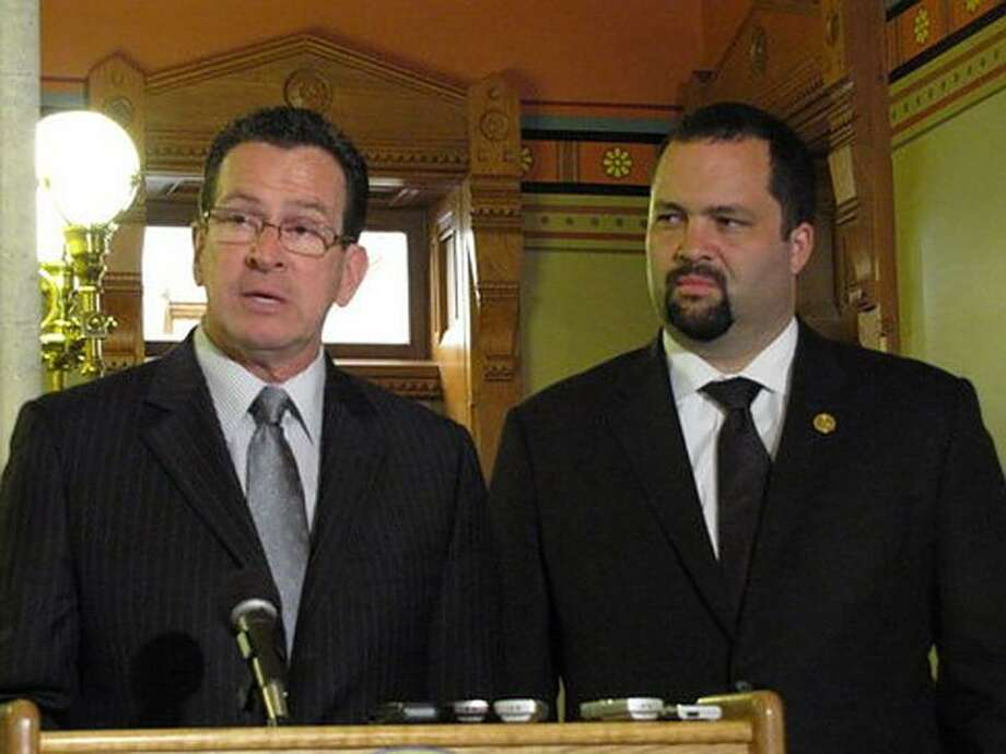 Gov. Dannel P. Malloy and NAACP President Benjamin Todd Jealous. Hugh McQuaid Photo