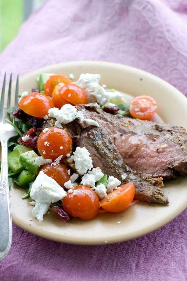 Matthew Mead/Associated Press photo: Fennel-Cumin Flank Steak Salad Photo: AP / FR170582