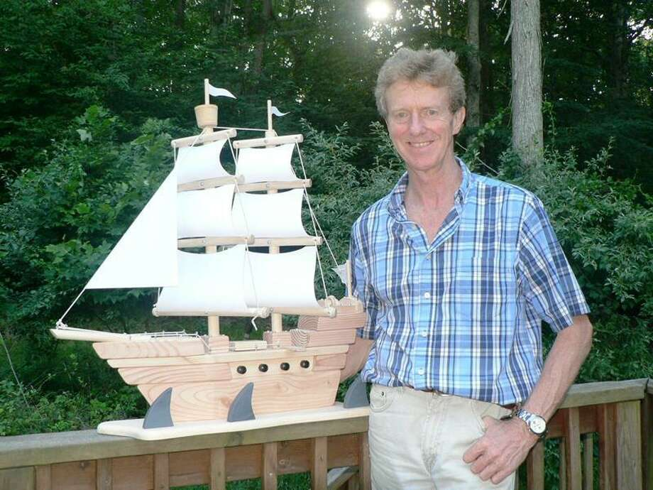 Woody Wilkins with a pirate ship