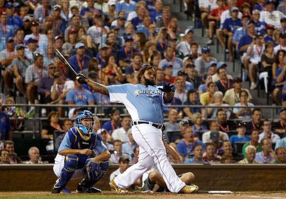 American League All-Star Prince Fielder of the Detroit TIgers hits during the Major League Baseball All-Star Game Home Run Derby in Kansas City, Missouri, July 9, 2012.  REUTERS/Jeff Haynes (UNITED STATES  - Tags: SPORT BASEBALL) Photo: REUTERS / X02430
