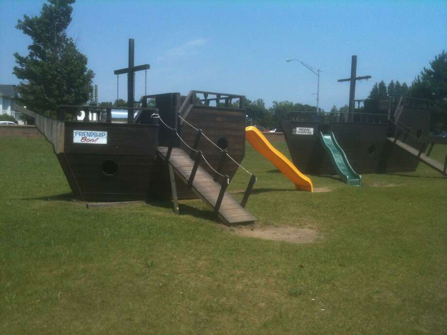 Photos by Joan Kirchner  A Boardwalk playscape.